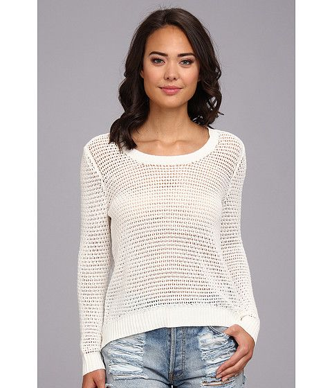 Billabong Womens Half Moon Bay Sweater White Cap Heather - Sweaters