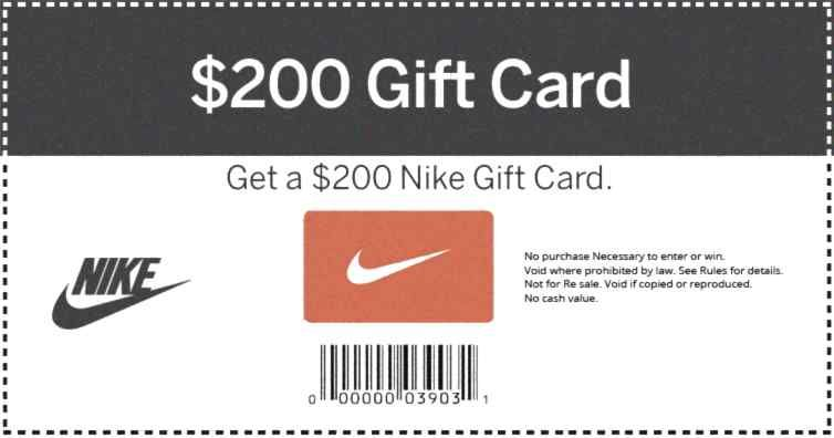 Get your card 1 per person nike gift card cards