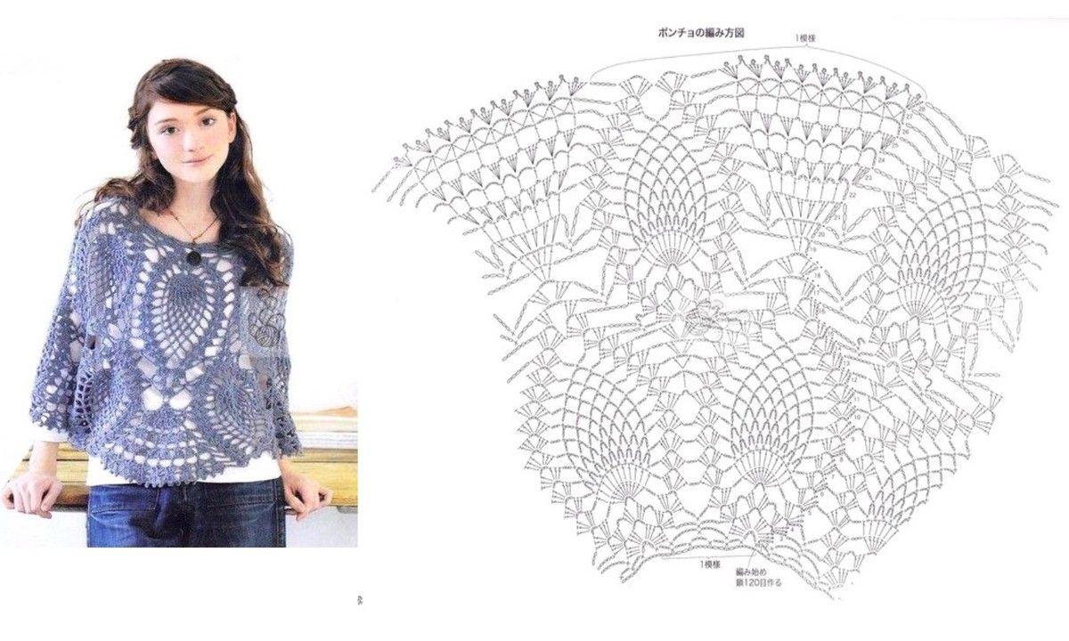 16 CAPAS PONCHOS MAÑANITAS PARA TEJER A CROCHET   Patrones Crochet ...
