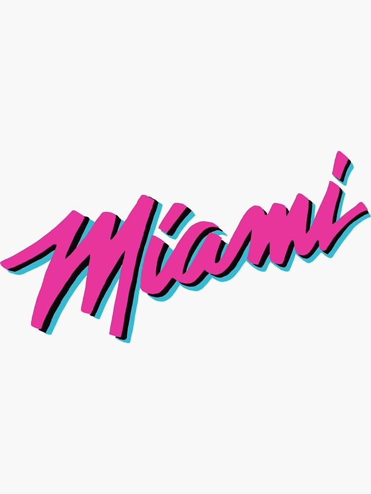 Miami Heat Vice Sticker By Nicmart Miami Vice Theme Miami Heat Miami Heat Basketball