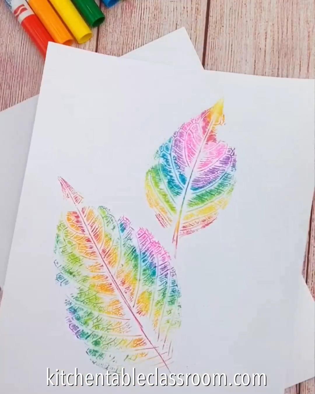 COLORFUL LEAF ART IDEA#art #colorful #idea #leaf