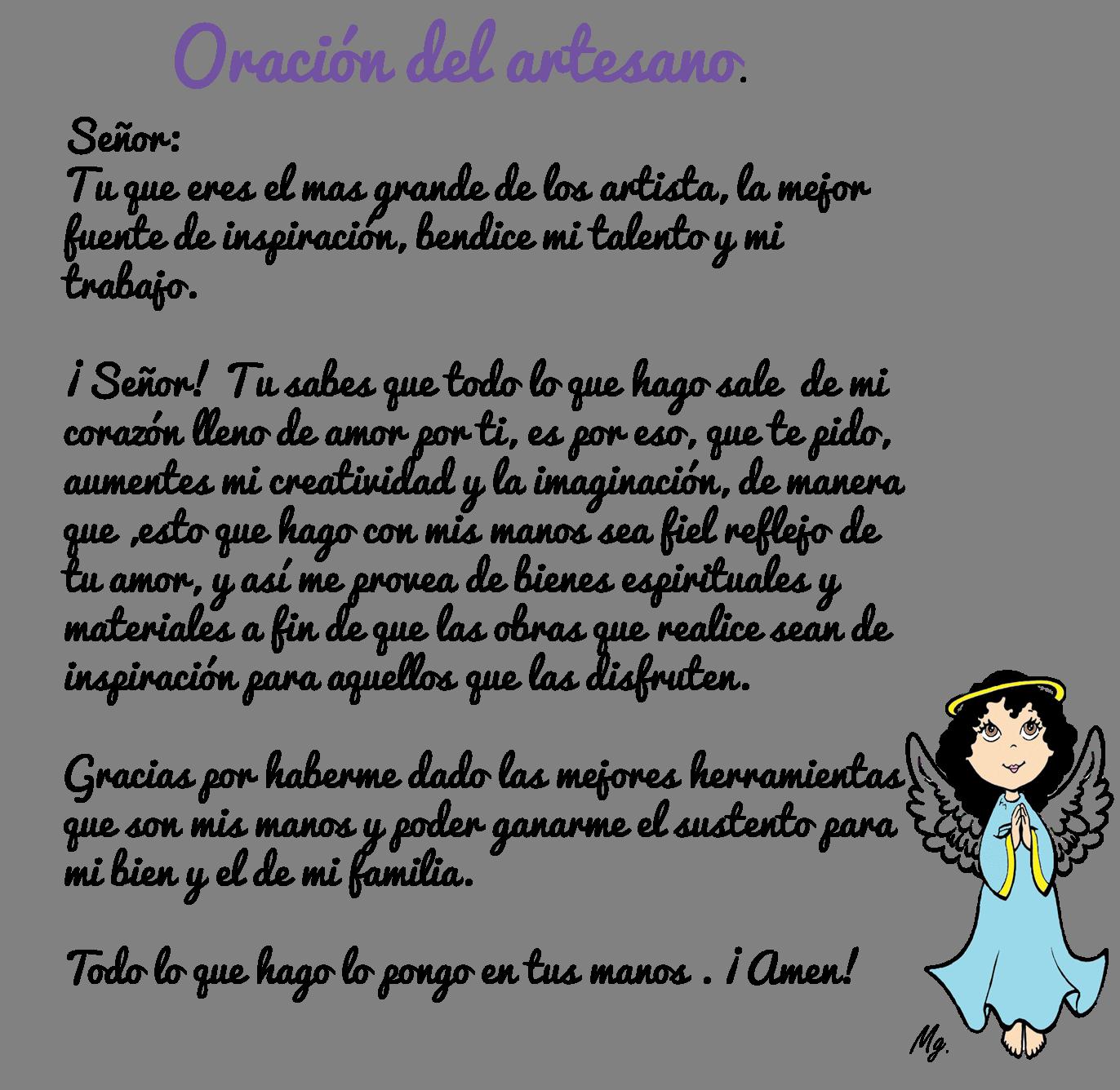 Frase de la semana....ORACION DEL ARTESANO | Artesanos mx ...