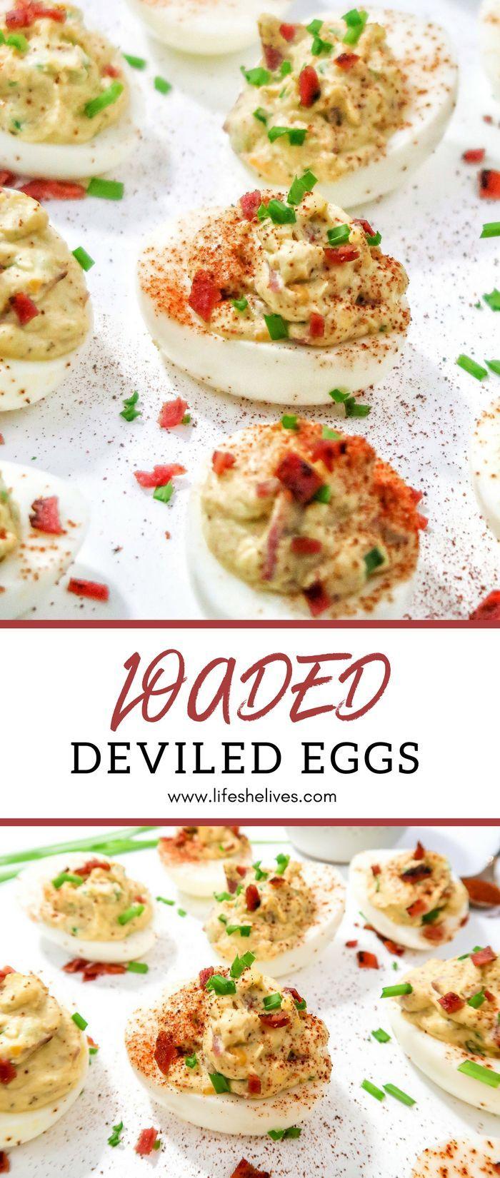 """Loaded"" Deviled Eggs"