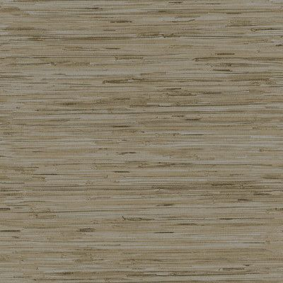 "York Wallcoverings Dazzling Dimensions Lustrous Grasscloth 33' x 21"" Wallpaper Roll Color: Silver / Taupe"