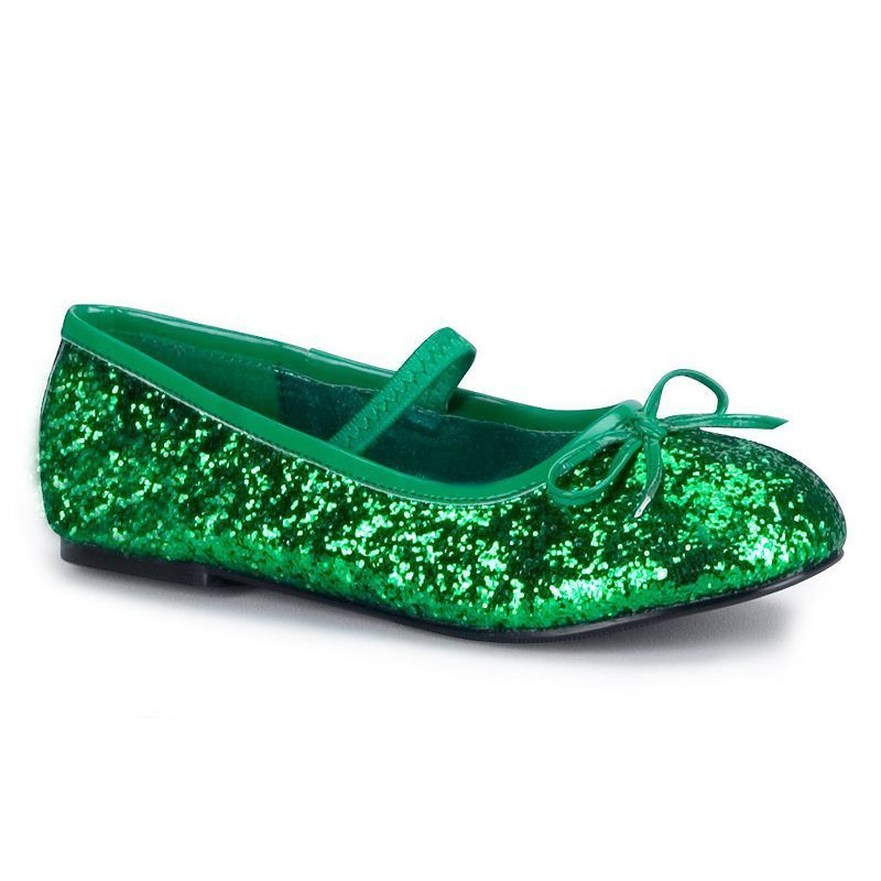 6af4ee4d6c1 Green Sparkle Flat Costume Shoes - Kids
