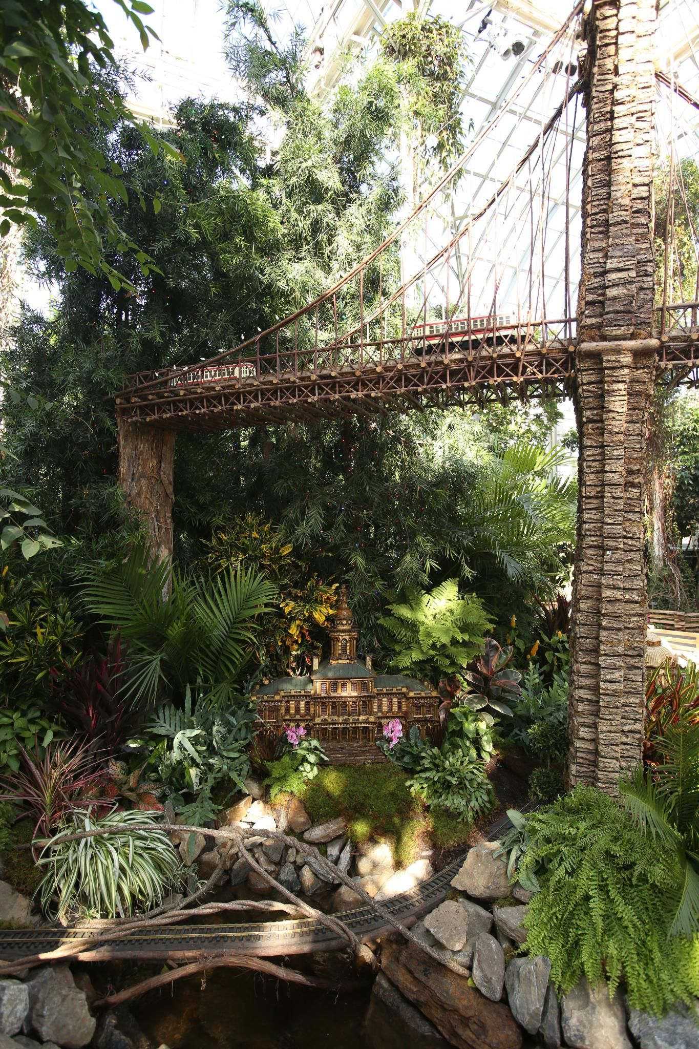 The Holiday Train Show at the New York Botanical Garden, Day 1 #botanicgarden