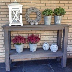 Sidetable Voor Buiten.Mooie Steigerhout Sidetable Decoratie Pinterest Garden Porch