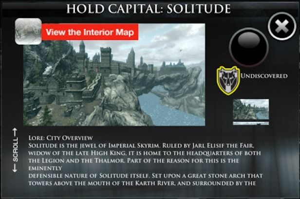 Check out this iOS interactive map of Skyrim.