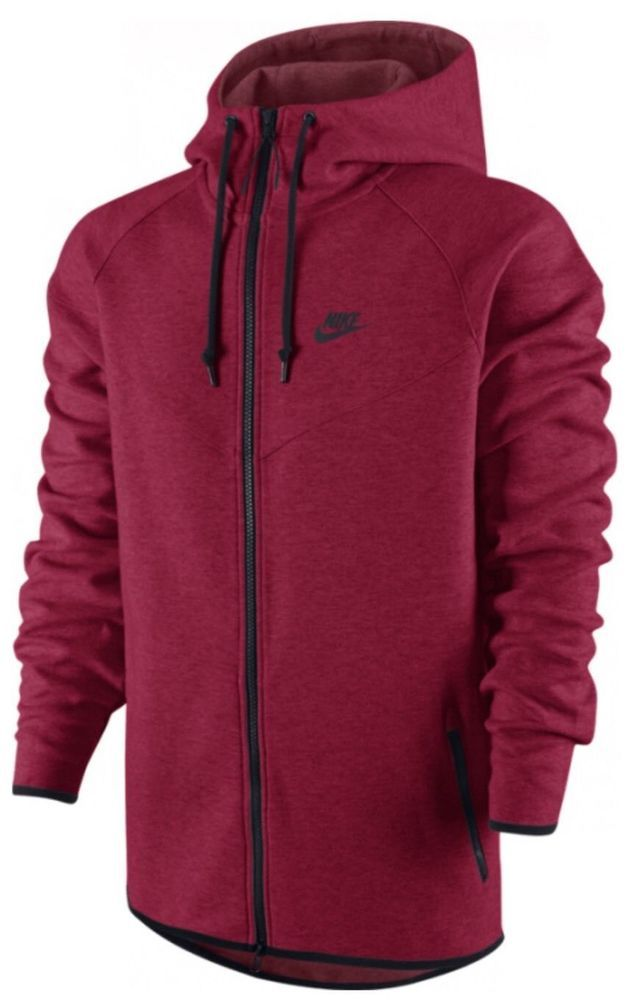 NEW Nike Tech Fleece Windrunner Jacket Hoodie Team Red 545277 695 Mens Large NWT #Nike #CoatsJackets