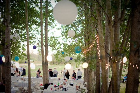 Simple Outdoor Wedding Love The Hanging Ornaments Wedding