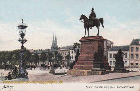 Altona - Kaiser Wilhelm-Denkmal und Bahnhofstraße