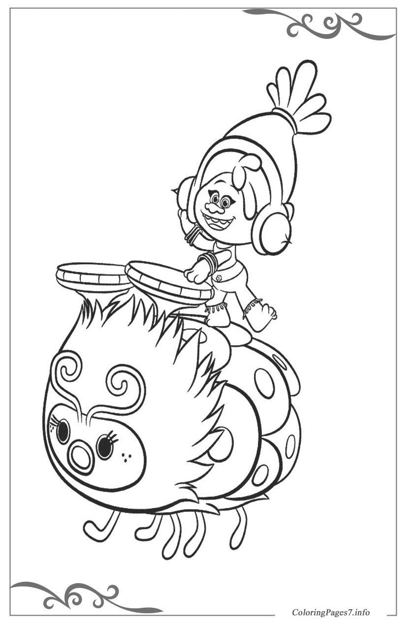 Trolls Printable Coloring Pages for Kids | Coloring pages | Pinterest