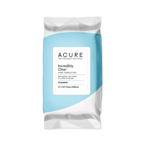 Acure Incredibly Clear Acne Towelettes