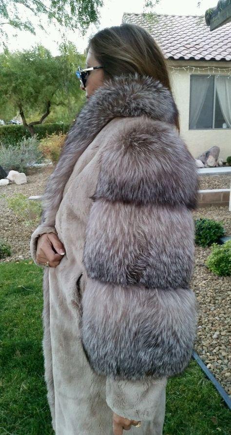 Black Coyote Fur Coat Neiman Marcus >> Details About Genuine Brown Sheared Fox Beaver Fur Coat Women