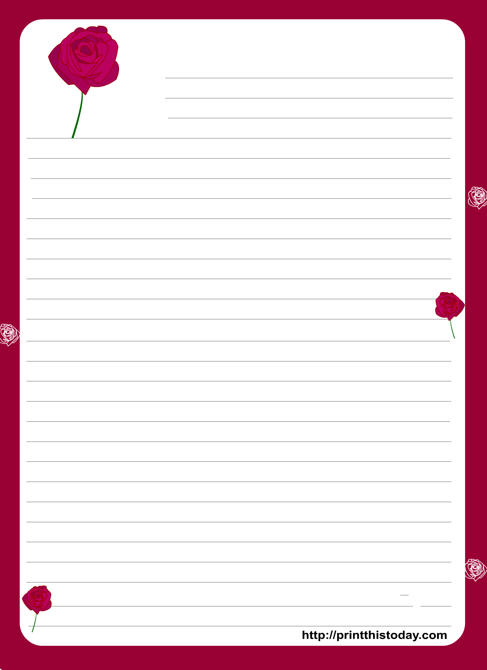 A Cute Letter Writing Paper Decorated With Cute Hearts Is Great To Write A Love Letter