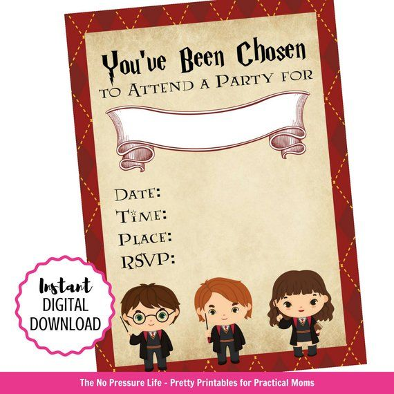 Harry Potter Invitation Printable Harry Potter Fun For Wizards