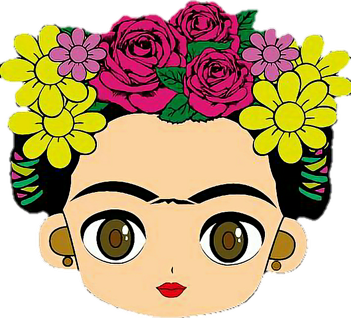 View Full Size Cara De Frida Kahlo Dibujo Clipart And Download Transparent Clipart For Free Like It And Pin It Frida Kahlo Cartoon Art Mexican Art