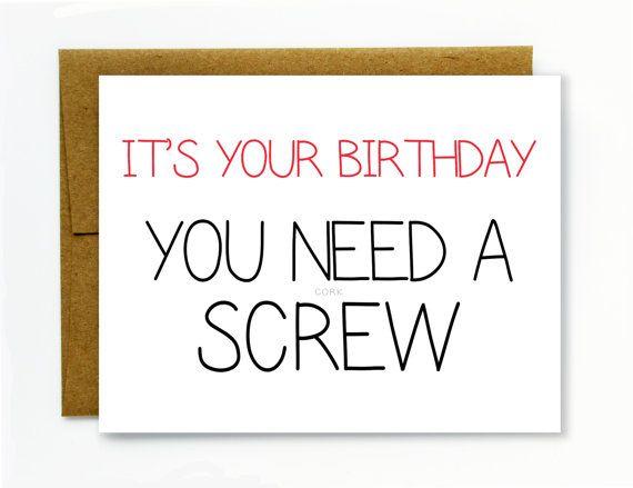 Funny Birthday Card Happy Birthday Dirty Birthday Card You