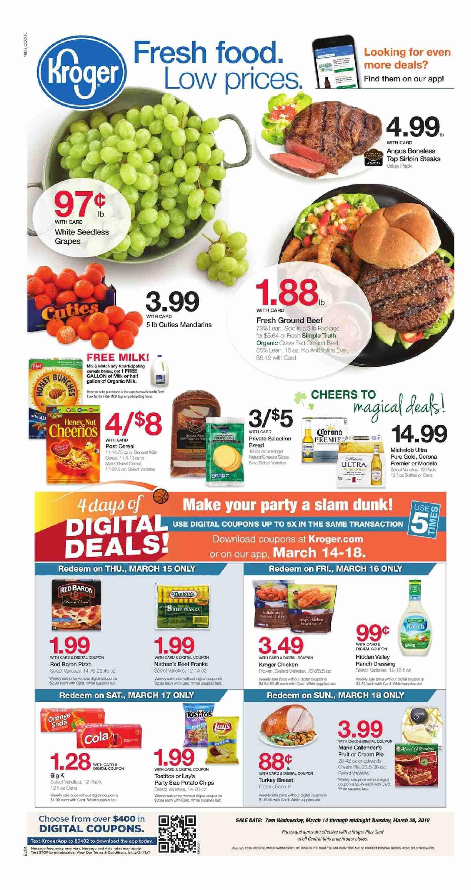 Kroger Weekly Ad Flyer March 11 17 2020 Weeklyad123 Com Kroger Weekly Ads Fresh Food