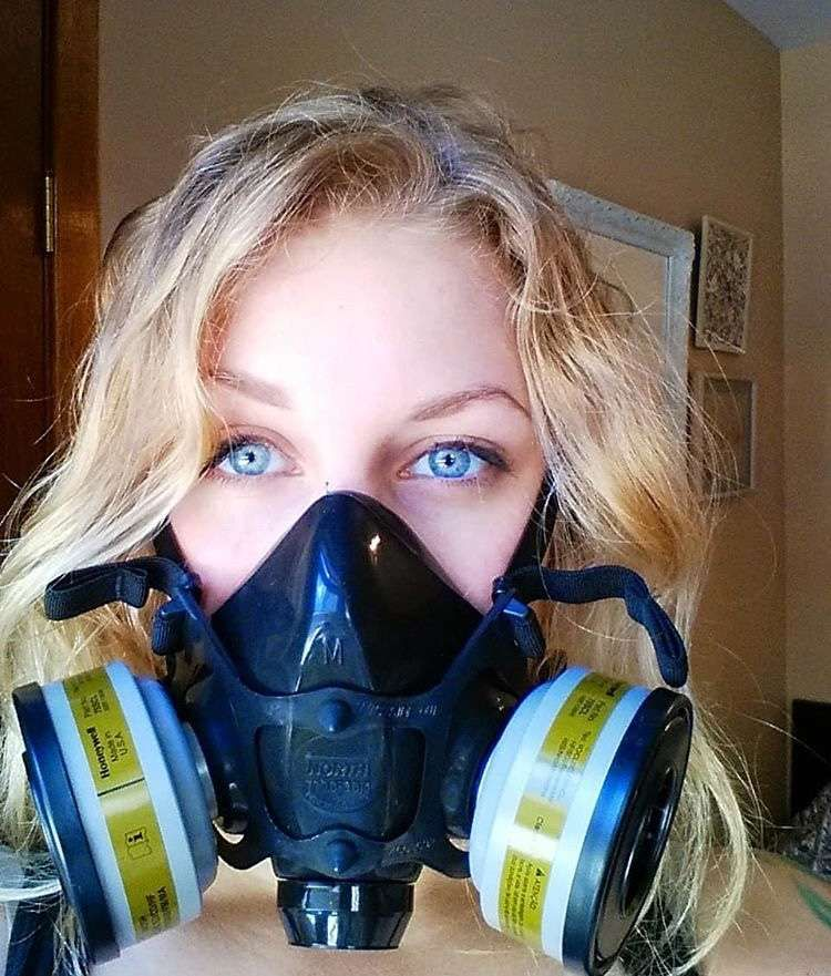 Mask Respirator Girl Cutie Gas