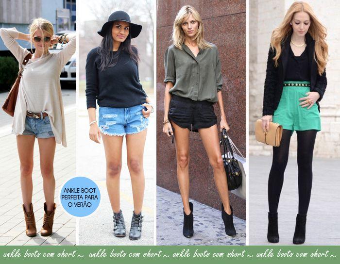 Como usar bota cano curto do inverno no verão | Street styles and ...