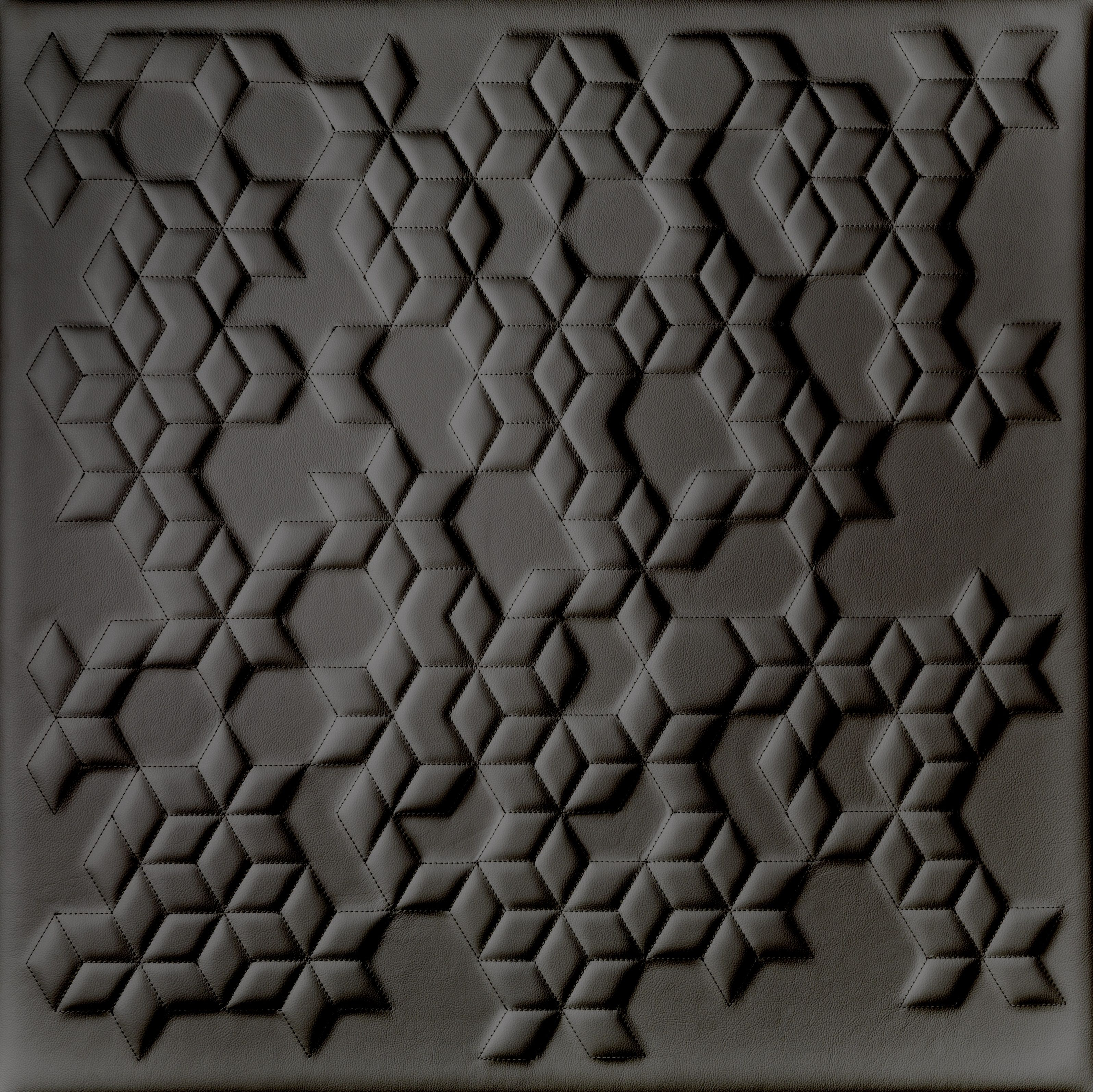 3D Leather Wall Panel in a Quilted Diamond Design by BMS ...