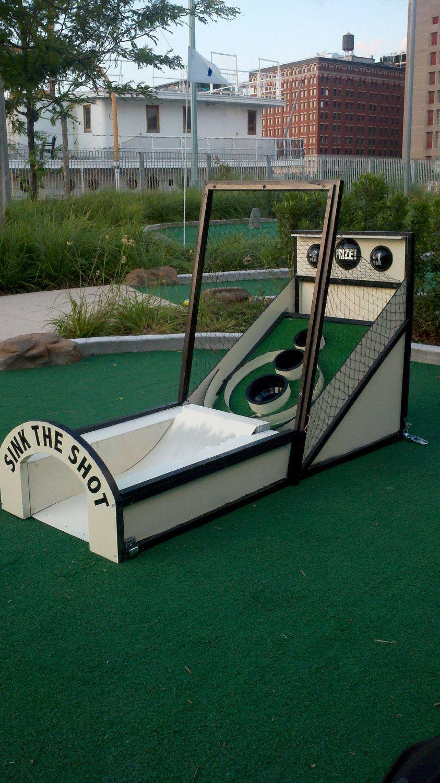 Custom Skee Ball Mini Golf Obstacle Ideas Camp Juegos Golf Y