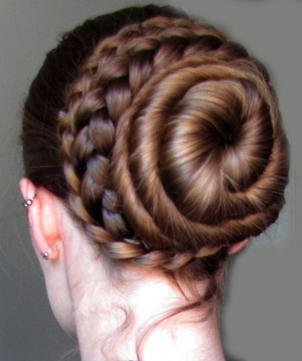 Coiled Braided Bun Hellobrown Bun Hairstyles For Long Hair Long Hair Styles Hair Styles