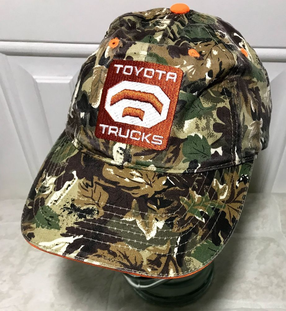 f7b2679e1a1 Toyota Trucks Hat Tundra Camouflage Camo Patch Logo Adjustable Dad Cap