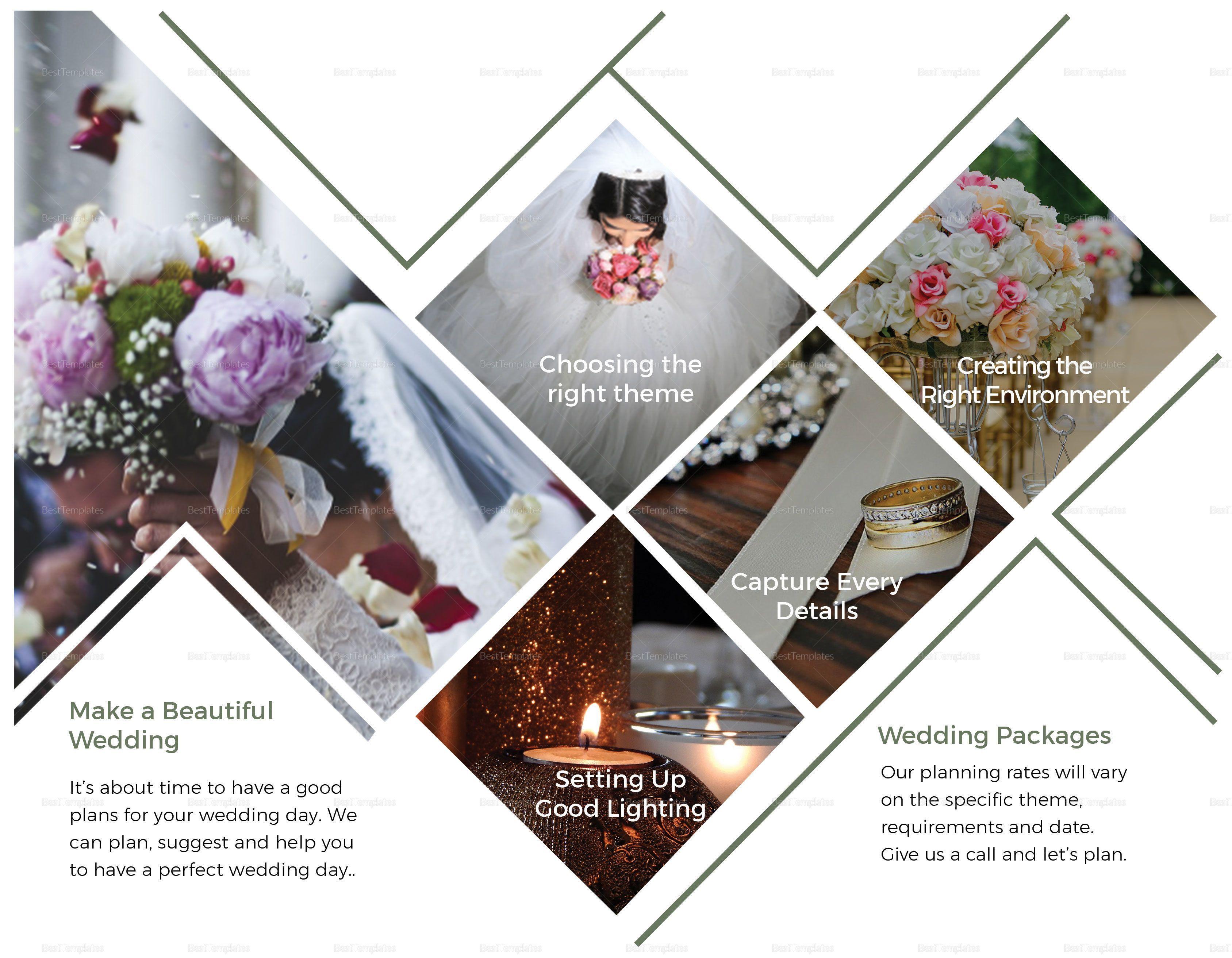 Wedding Planner Brochure Design Template in PSD, Word, Publisher, Illustrator, InDesign… in 2020 ...