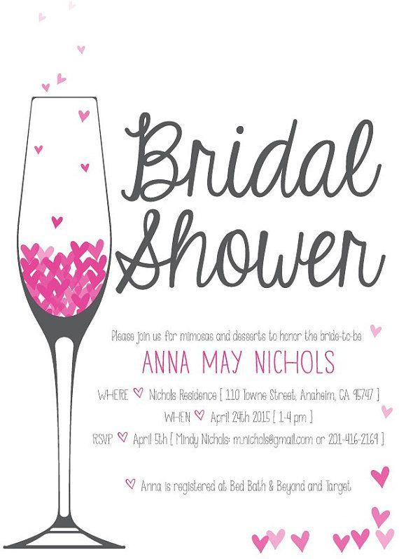 New colors champagne brunch bridal shower invitation by for Champagne brunch bridal shower