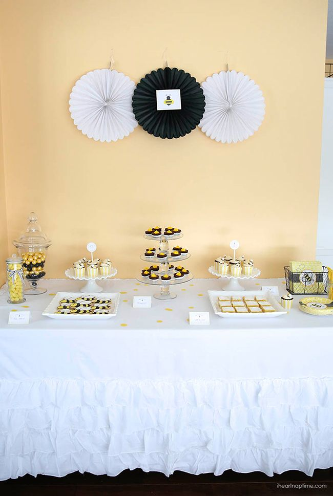 """What Will It Bee"" baby shower with FREE printables"