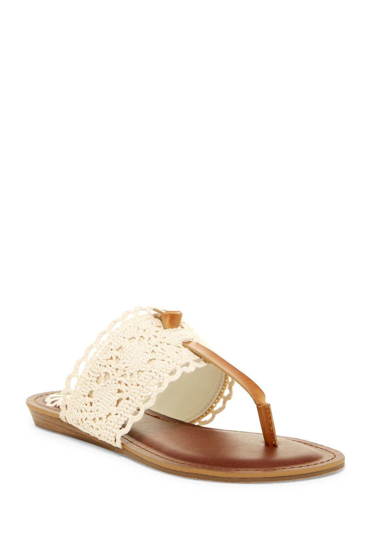 2a511caecda Stella Crochet Thong Sandal
