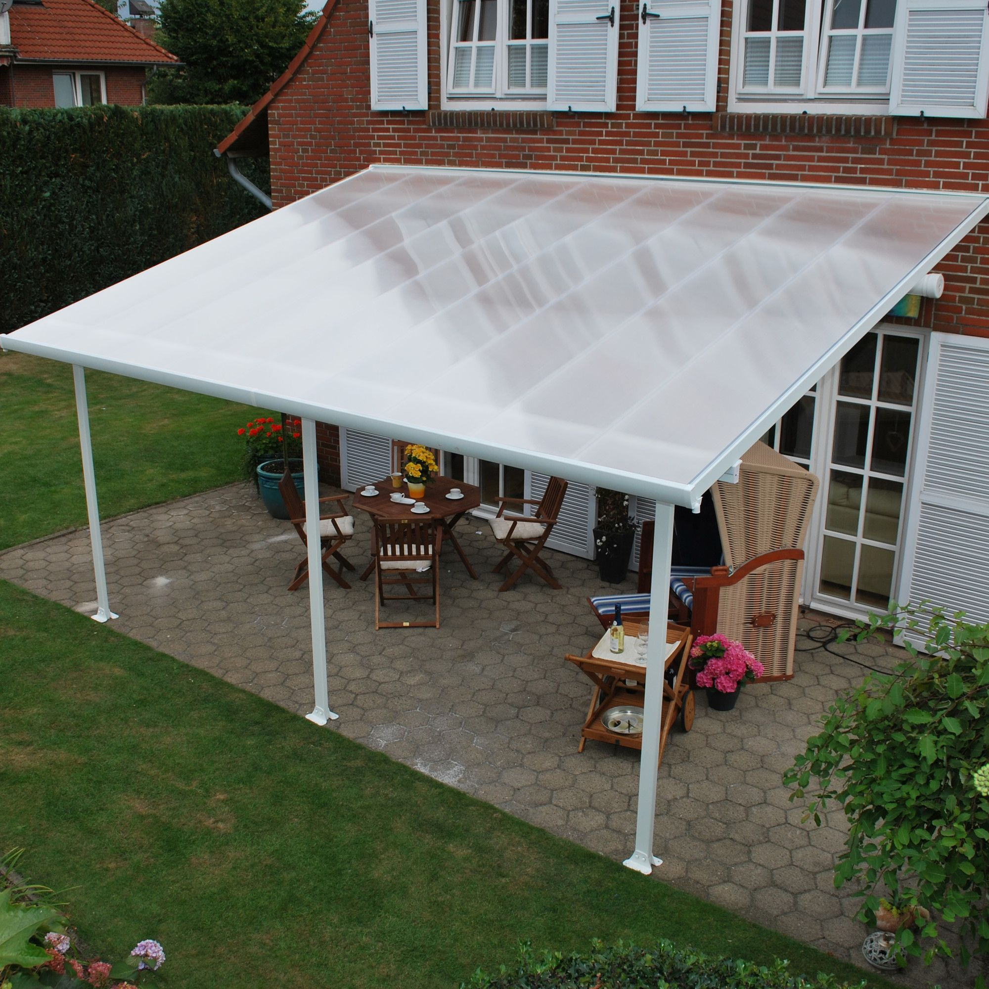 Feria 20 Ft W X 10 Ft D Plastic Standard Patio Awning Patio Awning Patio Canopy Covered Patio