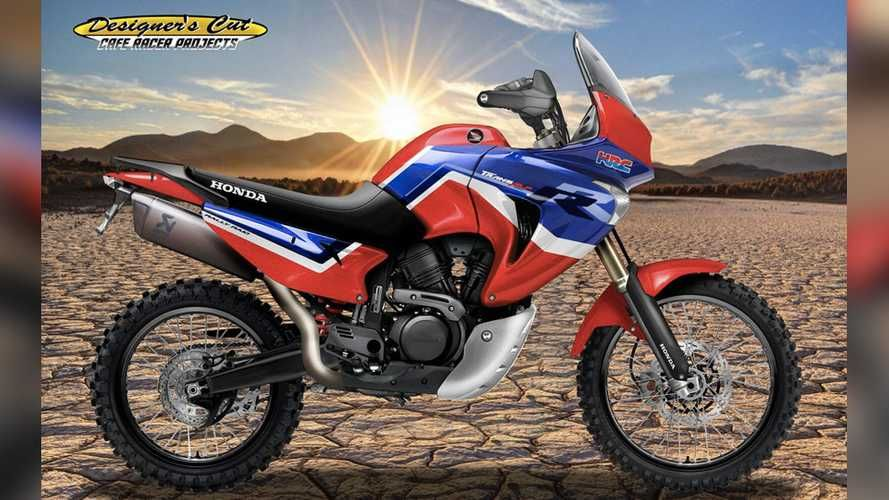 This Render Of A Honda 650 Adv Is A Mid Size Africa Fantasy In 2020 Adventure Motorcycling Honda Honda Africa Twin