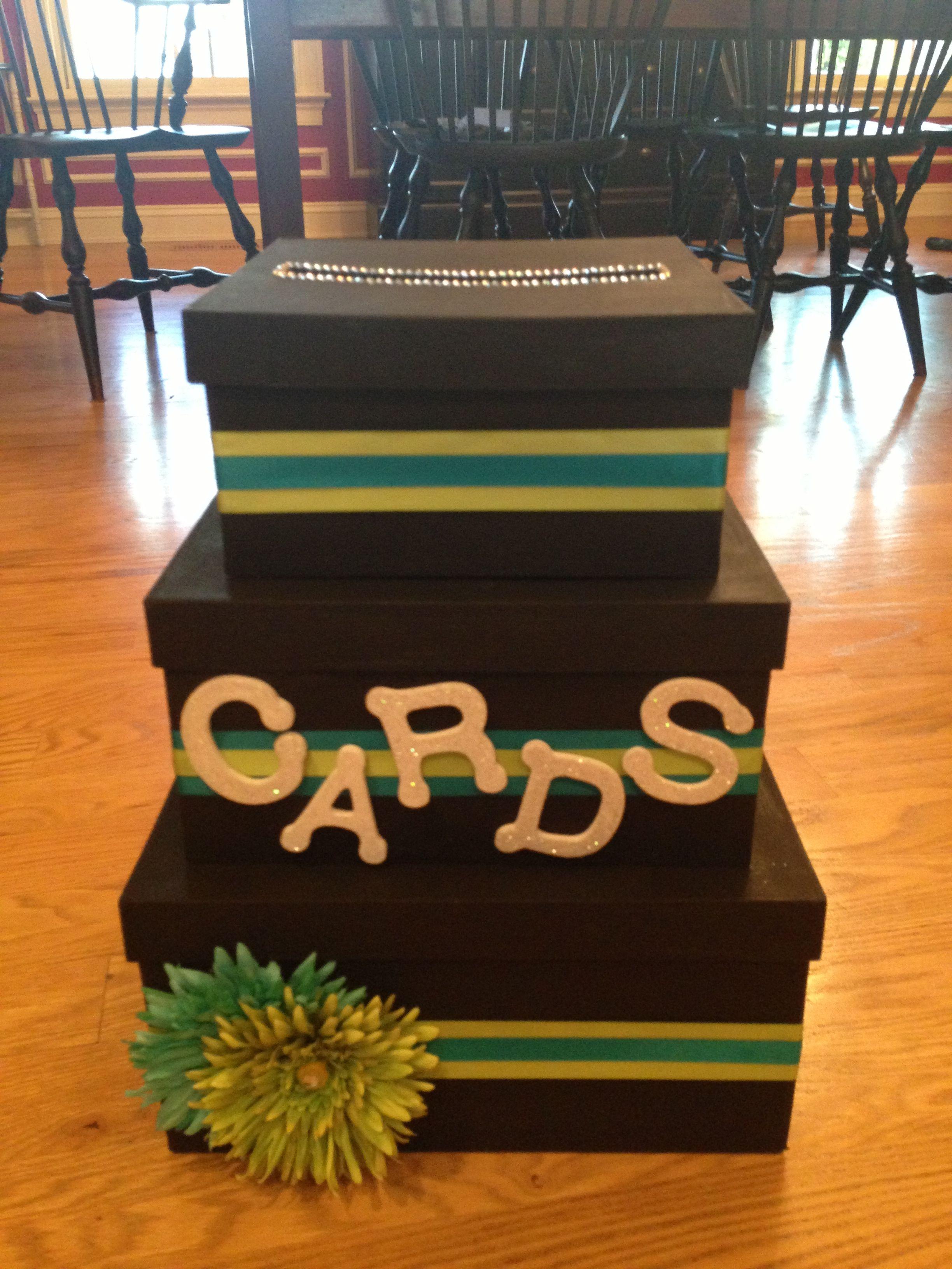 diy card box  party decorations diy card box moms