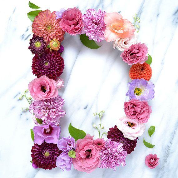 Floral Letter D Fine Art Print Floral Letters Alphabet Wallpaper Flower Wallpaper