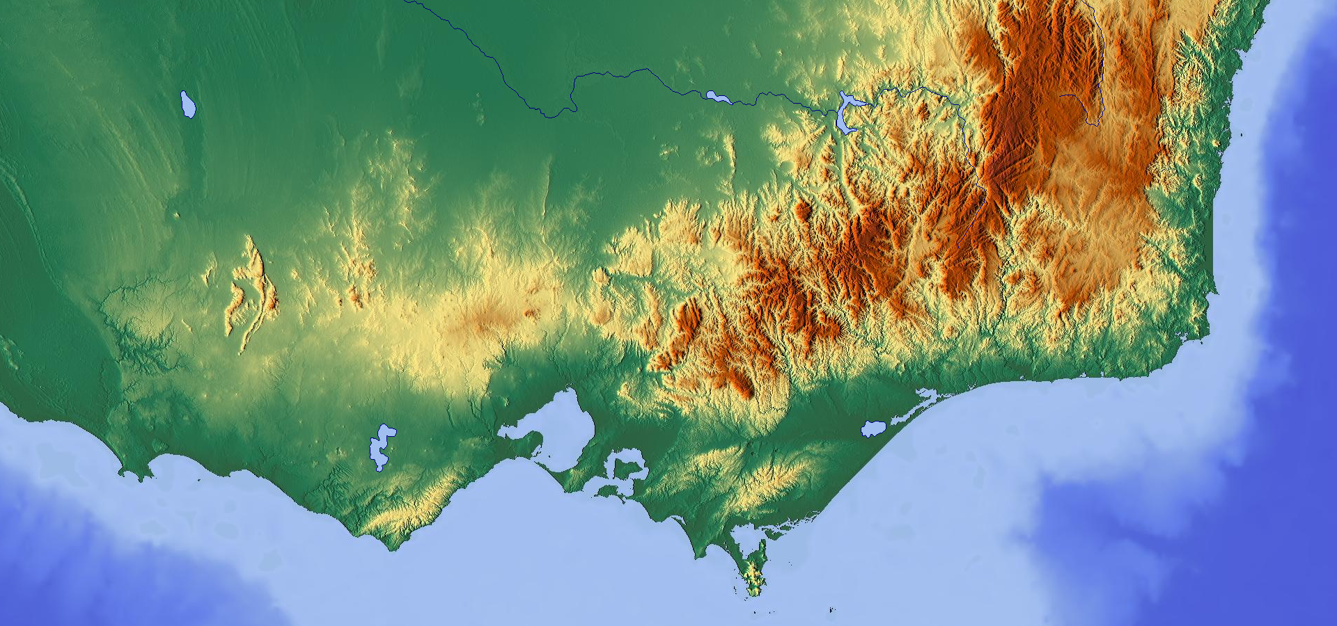 Topographic Map Of Victoria Maps Australia Map Map Map Of Victoria