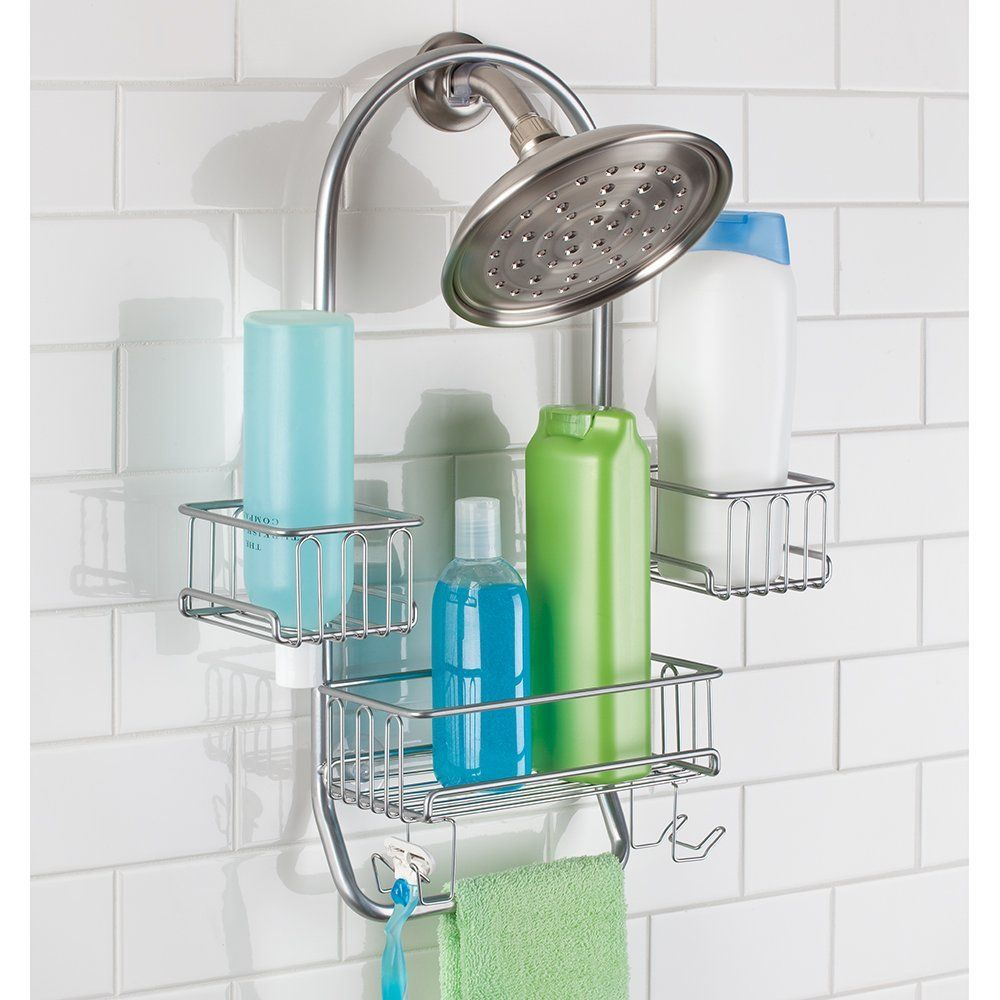 Amazon.com: MetroDécor mDesign Swing Bathroom Shower Caddy for Tall ...