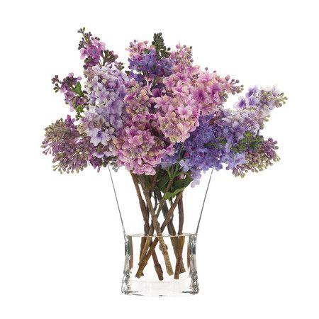 Faux Lilac Arrangement Faux Flowers Faux Floral Arrangement Fake Flowers