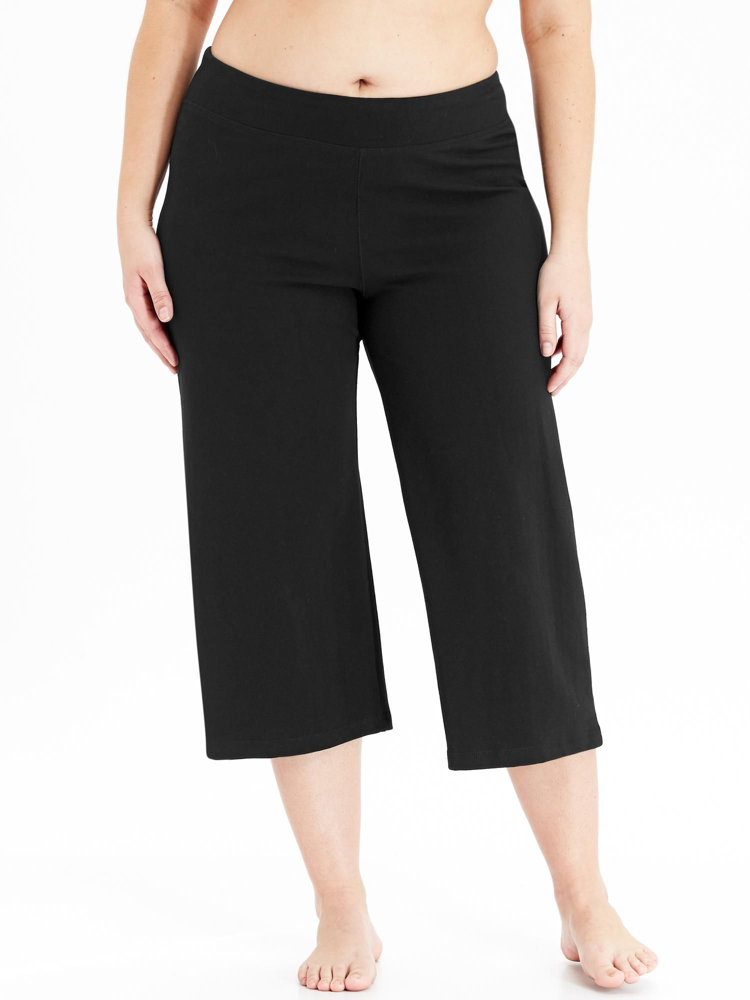 GoDry PlusSize Yoga Crops Old Navy (With images