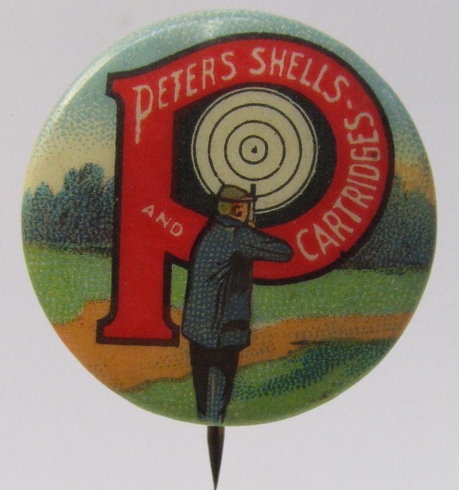 vintage PETERS SHELLS & CARTRIDGES Target Shooter guns
