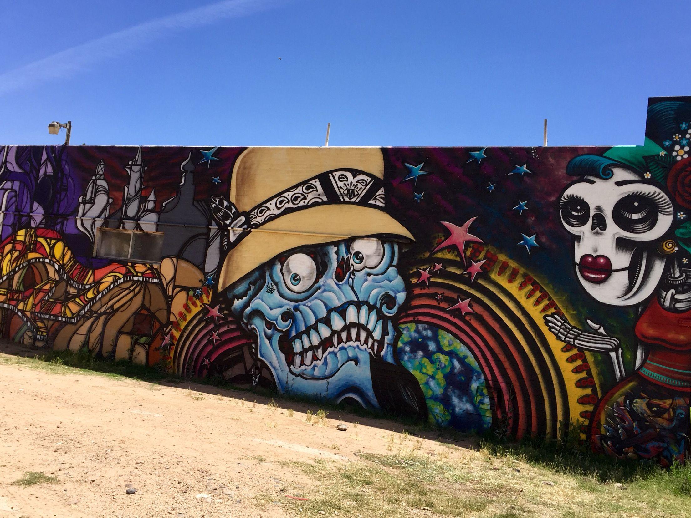 Roosevelt Row Art S District Downtown Phoenix Phoenix Az Wallart Urban Art Mural Urban Art City Art Street Art