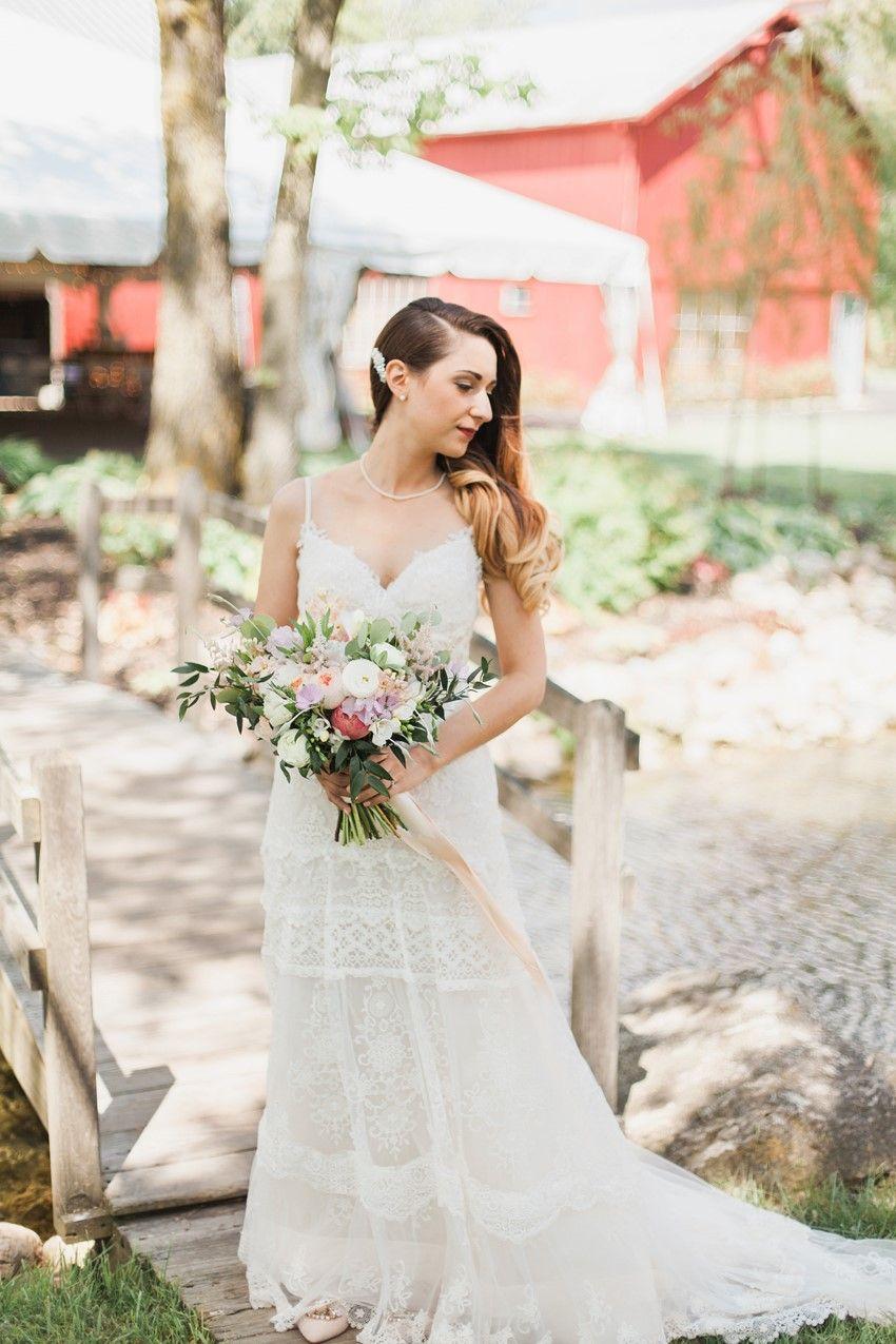 Dresses for summer wedding reception  A Romantic Wedding with an Elegant Barn Reception  Creative Wedding