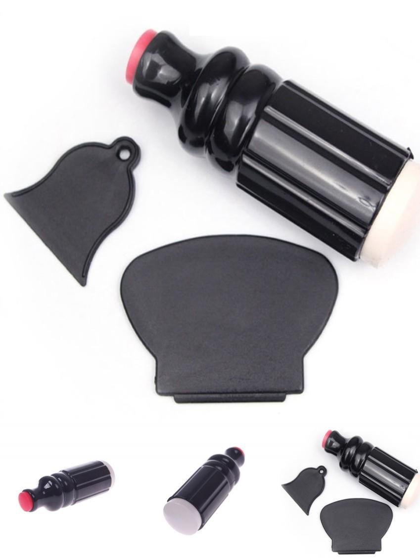 Visit to Buy] 1Pcs Women Nail Art Tool XL Stamper + 2 Scraper Set ...
