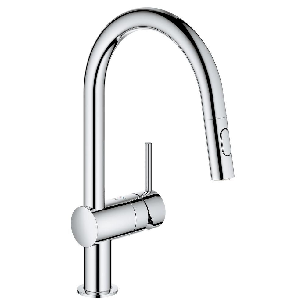 Grohe Minta Single Handle Dual Spray Pull Out Sprayer Kitchen
