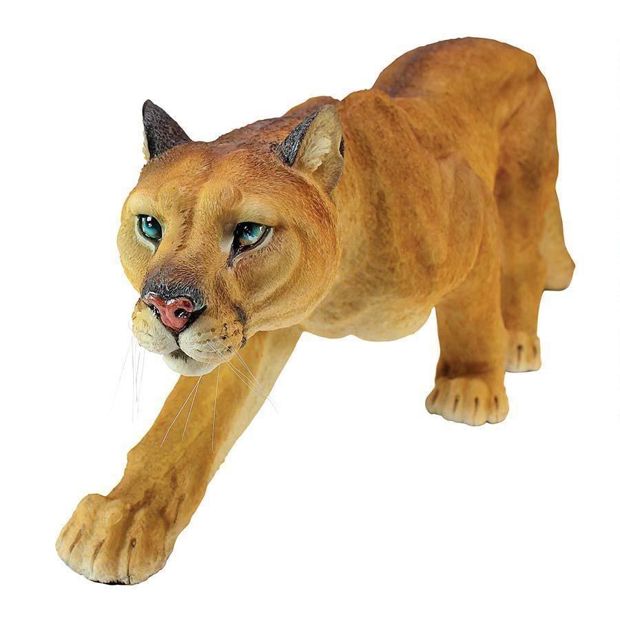 Wild Cat on the Prowl Cougar Mountain Lion Garden Feline Statue