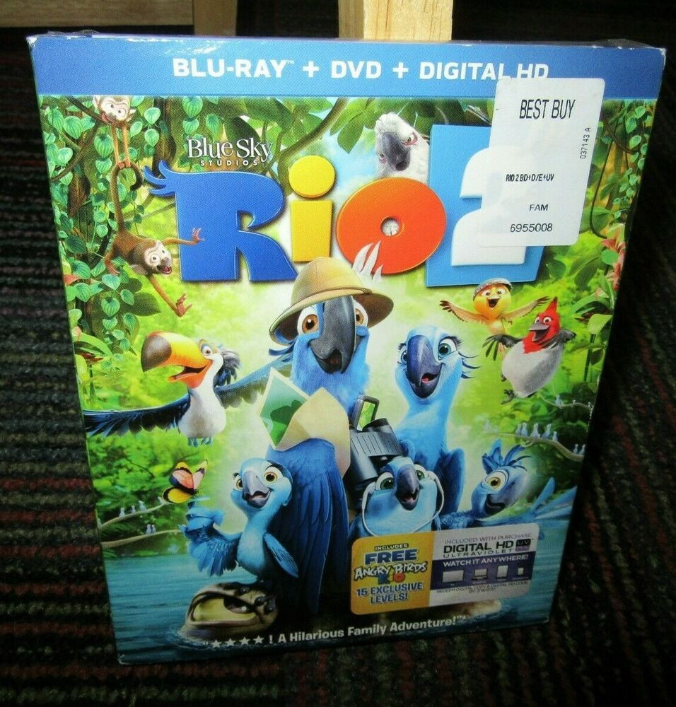 Details About Rio 2 Blu Ray Dvd Digital Uv Animated Movie