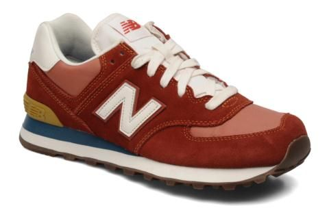 chaussures new balance ml574 beige blanc rouge
