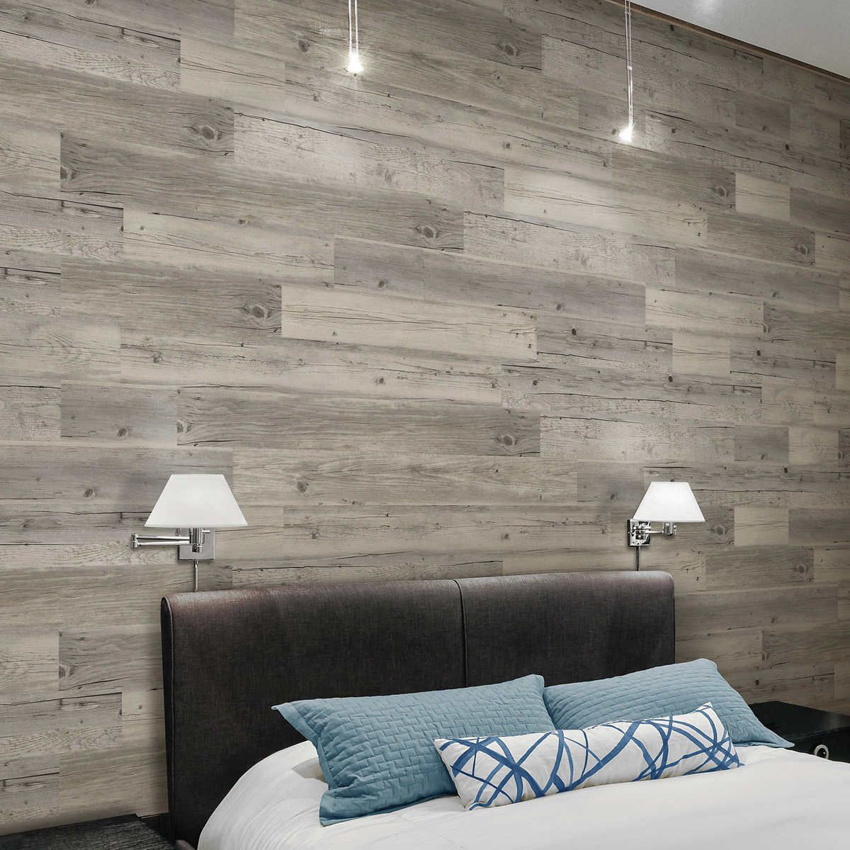 TopTile Solidity Decorative Wall Planks 11 sq. ft. in 1111  Vinyl
